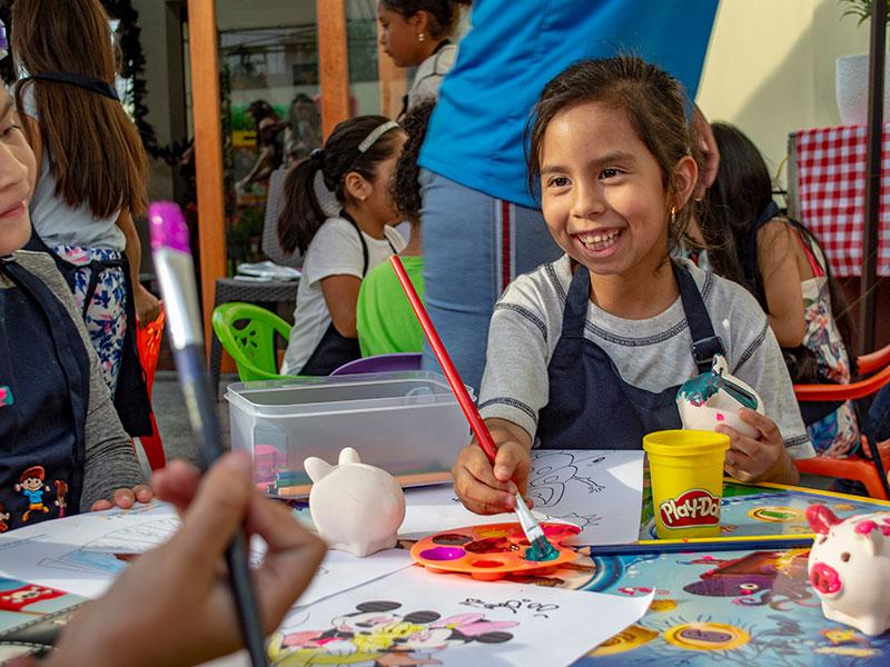 taller pintado de ceramica fiestas infantiles